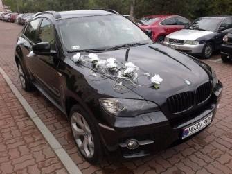 Limuzyna do ślubu BMW X6 35d xDrive auto samochód na ślub wesele Radzymin
