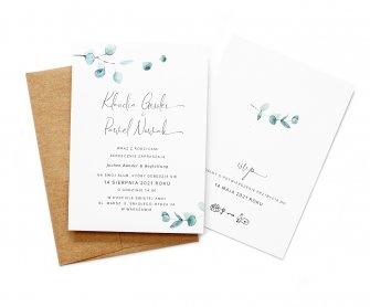 Zaproszenia ślubne z eukaliptusem Rzeszów