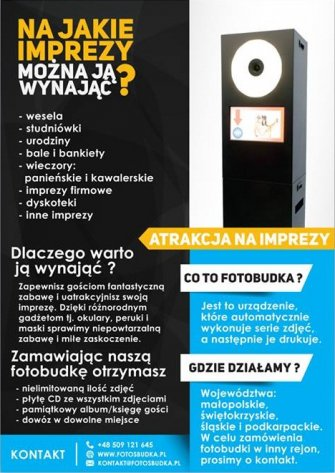 FotosBudka.pl - Profesjonalne Fotobudki na wesela Kraków