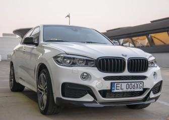 Białe BMW X6 woj. łódzkie Łódź