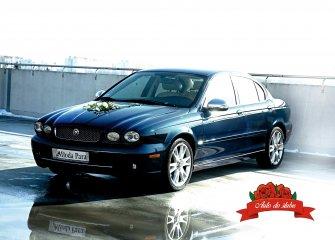 Auto do ślubu, samochód na wesele - JAGUAR X-Type + Napis LOVE Lublin