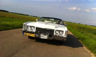 Cadillac Eldorado 1972 biały kabriolet Warszawa