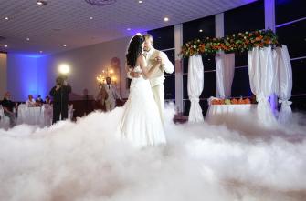 Taniec w chmurach - ciężki dym Warszawa