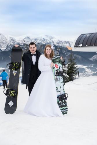 Zimowy plener ślubny Leżajsk