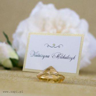 złote zaproszenie w złotym krysztale Poznań