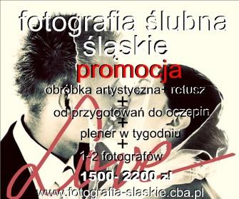 cennik fotografii ślubnej Tychy Ruda Śląska Katowice