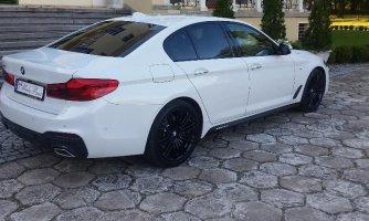 Najnowsze BMW G30 M biała białe do Ślubu Ciechanów ,Mława, Działdowo