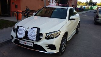 MERCEDES Biały GLC Coupe,a także BUS Kraków