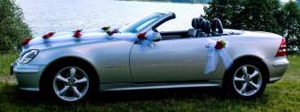 Uroczy Mercedes Cabrio SLK230 kompressor do Ślubu Augustów