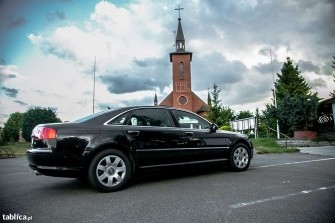 Auto do ślubu Audi a8 LONG Wesela Lipno