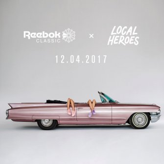 Różowy Cadillac Kabriolet w reklamie Jasło