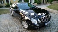 Auto na Wesele Czarny Mercedes E  Białystok