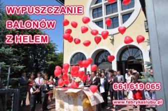 Balony z helem Rzeszów Krosno Jasło wypuszczanie balonów z helem z pudła prezentu Rzeszów Krosno Jasło Tarnów Kraków Sanok Dębica Przemyśl Podkarpacie Strzyżów