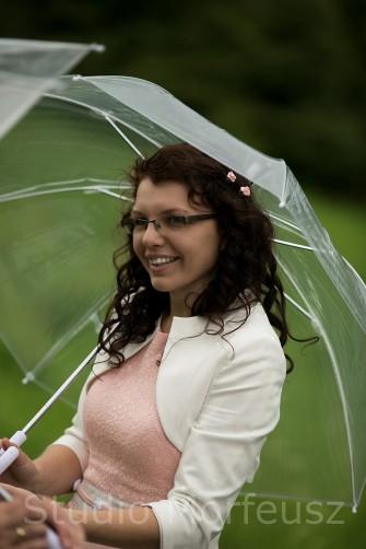 Świadek pod parasolem Bydgoszcz