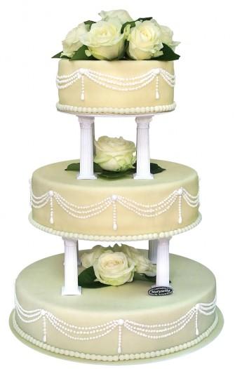 tort weselny z kolumnami Gliwice