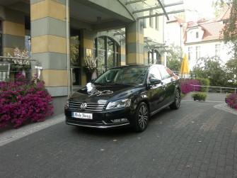 Auto do ślubu czarny Passat B7 Gdańsk