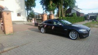 Zawiozę do ślubu limuzyną BMW 5 F10 / auto, samochód na wesele Mińsk Mazowiecki