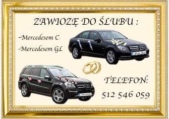 Mercedes do ślubu i wesela Białobrzegi