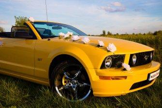 Mustang Cabrio do ślubu Warszawa