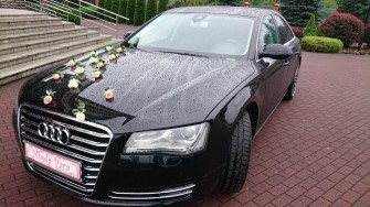 AUDI A8 D4; Czarna limuzyna Nowy S�cz