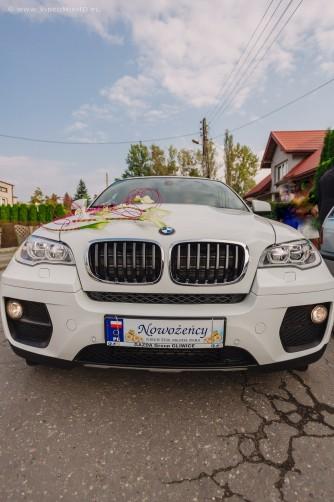 Luksusowe Białe BMW X6 Do Ślubu  Warszawa