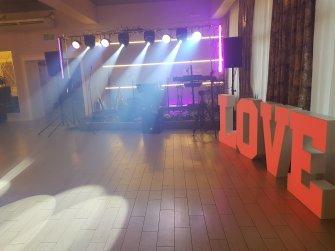 Scena gotowa + napis Love Włocławek