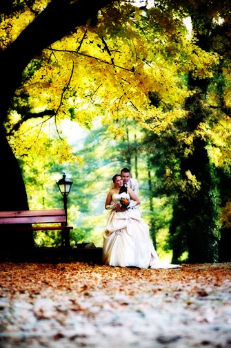 Zdjęcia ślubne w Parku Lipno