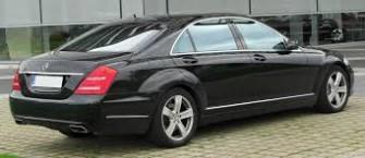 Piękny czarny Mercedes S klasa na ślub - wynajem Warszawa