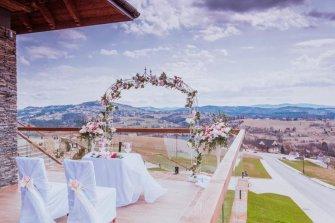 Ślub na tarasie Istebna