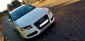 Audi a4 BIAŁE do ślubu  Ciechanów