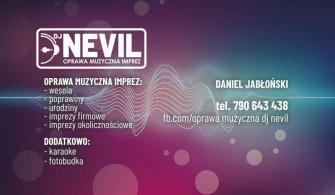 OPRAWA MUZYCZNA IMPREZ DJ NEVIL  Bartoszyce