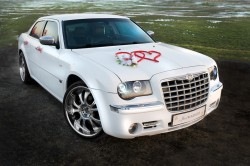 Chrysler 300c do Ślubu/Wesela Biała Perła RYBNIK