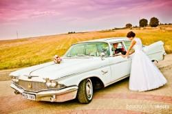 Zabytkowy amerykański samochód do ślubu Chrysler Imperial 1960r Łuków