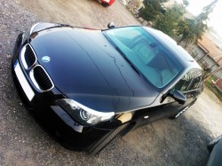 uto do ślubu BMW serii 5 e60. Czarne Ostróda