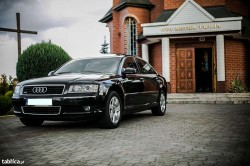 Auto do ślubu Audi a8 LONG Wesela Lipno