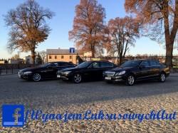 Jaguar XF, Mercedes E-class wynajem do ślubu, przewóz gości VIP i inne Starachowice