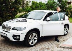Białe BMW X6 do ślubu !!! Jarocin, Poznań i okolice Jarocin