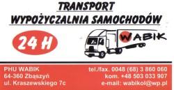Wypożyczalnia samochodów WABIK Wolsztyn