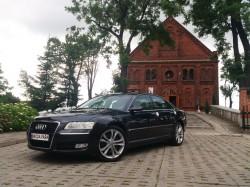 Auto do ślubu Audi A8 D3 4.2 Quattro 09' lift czarna perła -300zł  łódź