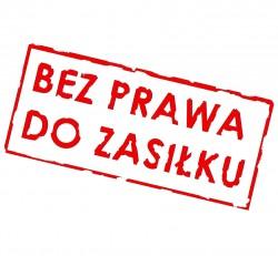 bez prawa do zasiłku Pruszcz Gdański