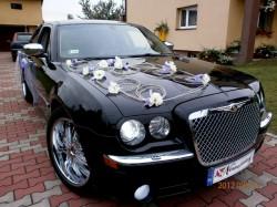 Chrysler 300C - śnieżnobiały i czarny Sosnowiec