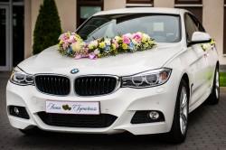 Białe BMW GT do slubu  Łask