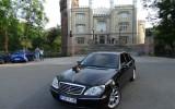 Mercedes S-klasa, czarna limuzyna Kórnik