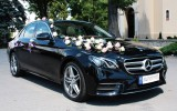 Nowy Mercedes E-klasa 2016r. , Bia�y AMG Mercedes, Czarne BMW 5 Wlkp. Nowe Skalmierzyce