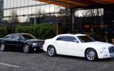 Chrysler 300C czarna per�a i �nieznobia�y na �lub i wesele Siemianowice �l�skie