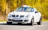Mercedes cabrio do �lubu - bia�a per�a - ZOBACZ FILM Pozna�