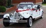 Zabytkowy kabriolet Alfa Romeo Nestor Baron do ślubu na wesele Biała Podlaska