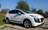 Samochód do ślubu- Peugeot 3008 biała perła Żywiec