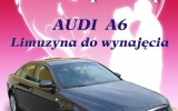 Audi A6 Czarno grafitowa limuzyna do �lubu ��d�