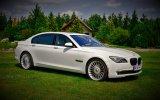 WYJĄTKOWE AUTO DO ŚLUBU BMW 7 NOWA WERSJA BIAŁA PERŁA FOTOBUDKA OSTROŁĘKA